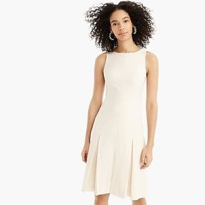 NWT J. Crew Sleeveless Pleated A-line Wool Dress